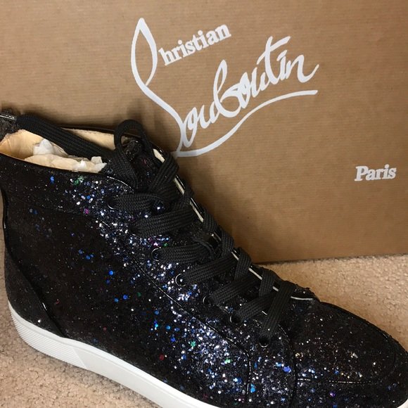 competitive price b9502 5ccf1 Christian Louboutin glittered men sneakers 41